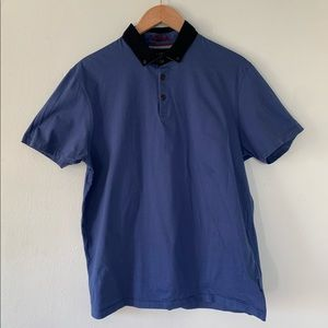 Ted Baker London Blue Polo Shirt Size 6/2XL